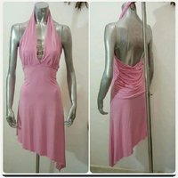 Used Pink dress- backless free size. in Dubai, UAE