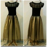 Used New black golden Dress- for Lady unique. in Dubai, UAE