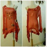 """Used Red top fashionable for women """" New in Dubai, UAE"""