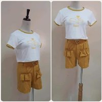 """Used Top with mustard short- small size """" in Dubai, UAE"""