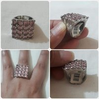 """Used Authentic""""Silver Ring pink Stone's in Dubai, UAE"""