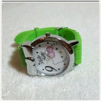 """Used Green HELLO KITTY watch """" for lady in Dubai, UAE"""