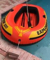 Used 3 person INTEX water Boat full set in Dubai, UAE