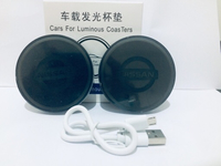 Used 2 Sets Nissan LED Luminous Car Coasters  in Dubai, UAE