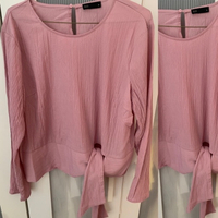 Used Pink Blouse with side tie detail  in Dubai, UAE