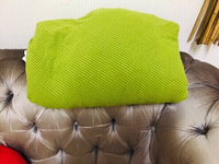 Used 3 Seater Sofa cover green ♏️ in Dubai, UAE