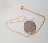 New 10k real gold necklace with key MOP
