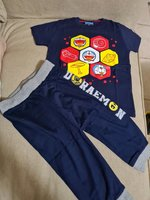 Used Original Doraemon tshirt & pants 2 -3 yr in Dubai, UAE