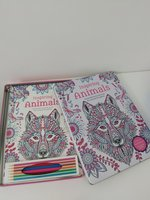 Used Adult colouring book in metal box. in Dubai, UAE