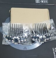 Used Crystal Decor Hair Side Comb Ink blue in Dubai, UAE