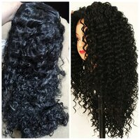 Used Brand new curly black wig hair in Dubai, UAE