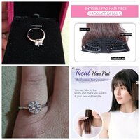 Used Hair extension browb piece + silver ring in Dubai, UAE