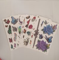 Used 3d tattoo stickers 10 different sheets in Dubai, UAE