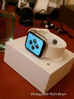 Used Apple watch white full Screen SWTCH. in Dubai, UAE