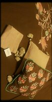 Used Khaadi embroided bed cover n cushion cov in Dubai, UAE