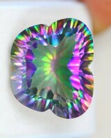Used Natural Mystic Topaz Butterfly Cut in Dubai, UAE