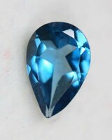 Used Natural London Blue Topaz Pear Cut in Dubai, UAE