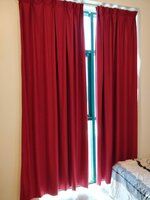 Used Beautiful red blackout curtains. 4 piece in Dubai, UAE