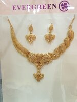 Used Gold plated necklace and earrings 😀😍 in Dubai, UAE