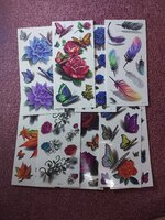 Used 3D tattoo stickers 10 pcs in Dubai, UAE