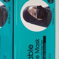Used 50 black mask in box tempost in Dubai, UAE