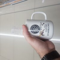 Used Starbucks MUG NEW WITH SPOON in Dubai, UAE