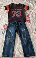 Used Jeans and t-shirt size 4-5 years in Dubai, UAE