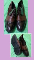 Used Men patent leather shoes (brown) 45 in Dubai, UAE