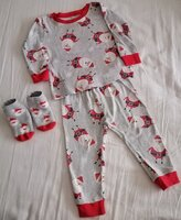 Used X-mas pyjamas with socks size 12 months in Dubai, UAE