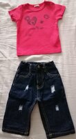 Used Original Nautica jeans, benetton t-shirt in Dubai, UAE