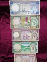 Used Old Saudi Arabia notes set in Dubai, UAE