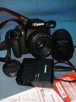 Used Canon 2000D, 50mm & Kits Lens, Charger in Dubai, UAE