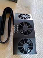 Used Solar car cooling fan Black in Dubai, UAE