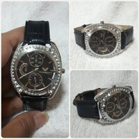 "Used Black EMPORIO ARMAIM watch "" new in Dubai, UAE"