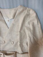 Used Belted Trench Coat in Gold and White in Dubai, UAE