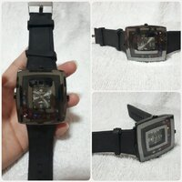 "Used Fashionable black watch "" brand new.. in Dubai, UAE"