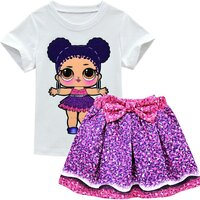 Used New baby girl skirt and blouse size 120 in Dubai, UAE