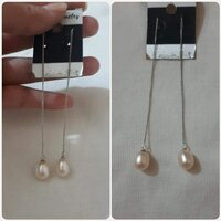"Used Original pink pearl silver earrings "" in Dubai, UAE"