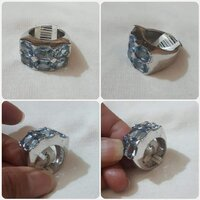 Used Silver Ring with light blue stone size-8 in Dubai, UAE