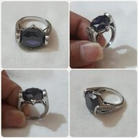 "Used Authentic Silver Ring with purple Stone"" in Dubai, UAE"