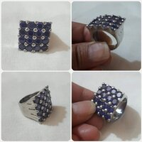 Used Original silver Ring size- 7 in Dubai, UAE
