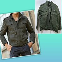 Used Brand new army style Men Jacket size S in Dubai, UAE