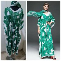 Used Brand new flew printed ladies abaya XL in Dubai, UAE