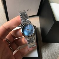 Used Gucci G-timeless watch blue pearl dial in Dubai, UAE