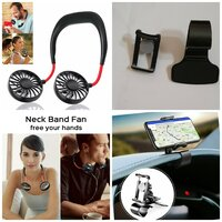 Used Combo Deal Neck Fan And Car Phone Holder in Dubai, UAE