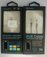 Used Audio/Charge Adapter(splitter)+AUX Cable in Dubai, UAE