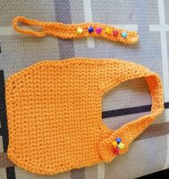 Used Bib and pacifier holder handmade in Dubai, UAE
