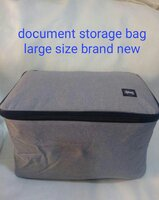 Used Document storage bag large with lock new in Dubai, UAE