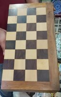 Used Wooden Chess Set 😁♥️ 16 × 16 inches NEW in Dubai, UAE