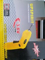 Used UPSPIRIT Cordless Screwdriver 3.6V Lion in Dubai, UAE